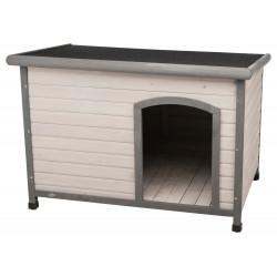 Trixie TR-39563 Dog house Classic flat roof Size W. 116 x 82 x 79 cm . grey Niche