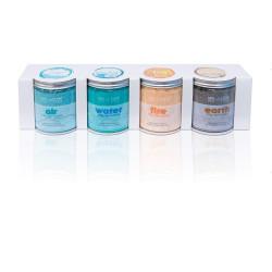 Lot DE 4 Pots de Cristaux Parfumés pour Spa