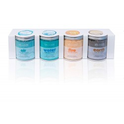 AquaFinesse SC-AQN-500-0028 Set of 4 Jars of Scented Crystals for Spa SPA