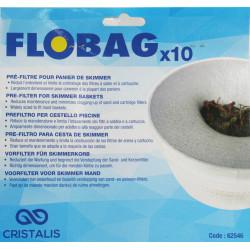 IN-SWBAG flovil 10 CESTAS DE PREFILTRO DESECHABLES - CALCETINES DE SKIMMER - FLOBAG Filtración de piscinas