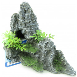 Trixie TR-8853 Rock Staircase with plant, 22 cm - fish aquarium decoration Decoration and other