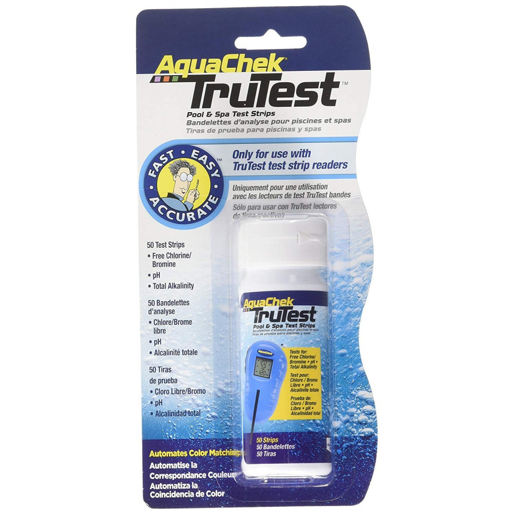 Trutest blister de 50 bandelettes pour appareil testeur digital Analyse piscine aquachek SC-AQC-470-0015