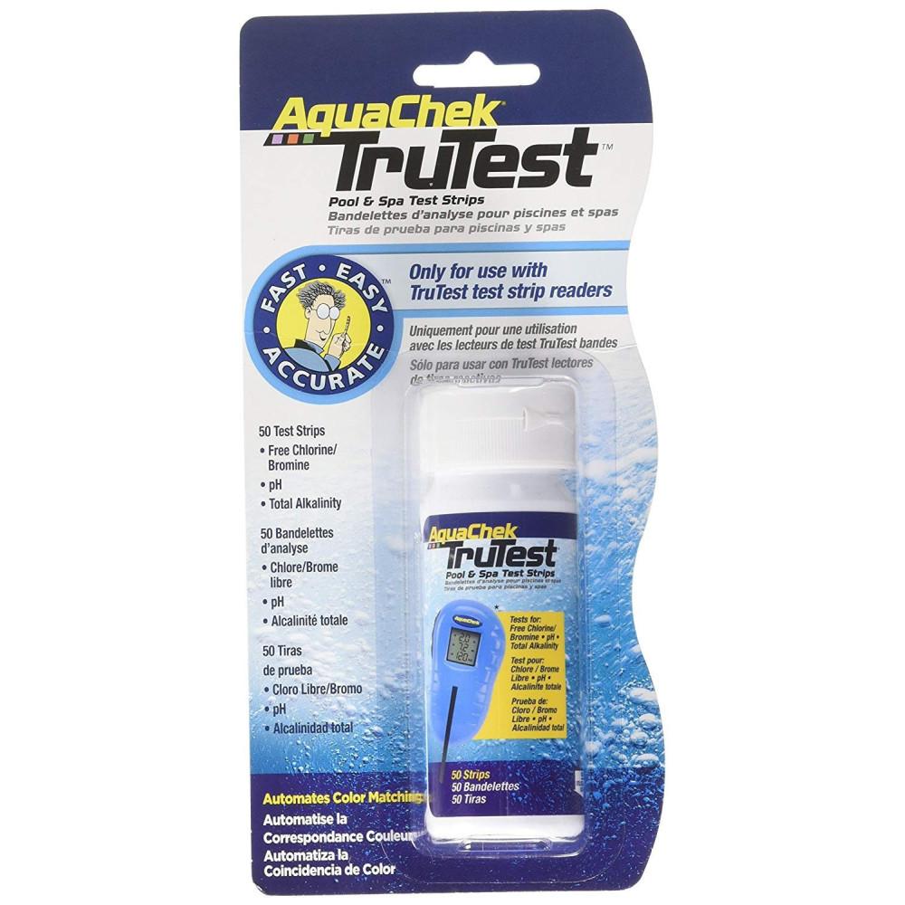 Trutest blister de 50 bandelettes pour appareil Analyse piscine aquachek SC-AQC-470-0015