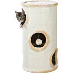 Trixie TR-4330 Cat Tower Samuel. ø 37 cm x 70 cm high. beige color. for cat. Arbre a chat, griffoir