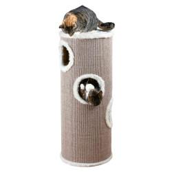 Trixie Cat Tower Edoardo. ø 40 cm x 100 cm high. taupe color. Arbre a chat, griffoir