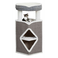 Trixie Cat Tower Arma. 38 x 38 x 98 cm high. Grey and white colour. Arbre a chat, griffoir