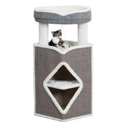 Trixie Cat Tower Arma. Altezza 38 x 38 x 98 cm. Colore grigio e bianco. TR-44427 Arbre a chat, griffoir