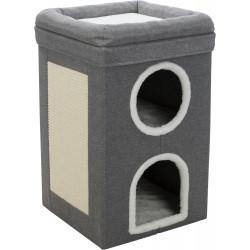 Trixie Cat Tower Saul. 39 x 39 x 64 cm. grey colour. Arbre a chat, griffoir