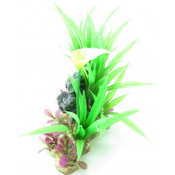 Trixie TR-89302 Plastic plant on gravel and resin bed 18 cm fish decoration Decoration and other