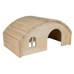 TR-61273 Trixie Maisonnette en bois pour lapins 42*20*25 cm Juegos, juguetes, actividades