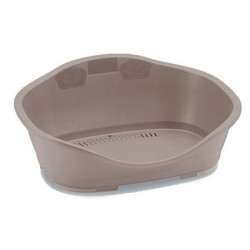 Stefanplast Plastic Sleepper basket 1. 56 x 42 cm light pink. for dog. Panier plastique chien