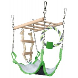 Trixie TR-6298 Suspended bridge with hammock-mouse, hamsters Games, toys, activities