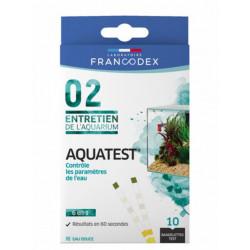 Francodex Aquatest 10 Streifen. Steuert die Parameter des Aquariumwassers. FR-173665 Wartung, Aquarienreinigung