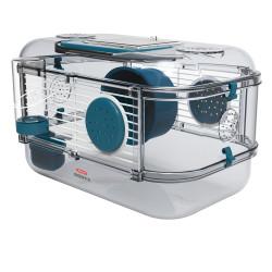 zolux Cage Mini rody3. couleur Bleu. taille 33 x 21 x 18 cm H. pour rongeur. Cage