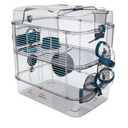 zolux Cage Duo rody3. couleur Bleu. taille 41 x 27 x 40.5 cm H. pour rongeur Cage
