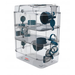 zolux ZO-206025 Cage Trio rody3. color blue. size 41 x 27 x 53 cm H. for rodent Cage