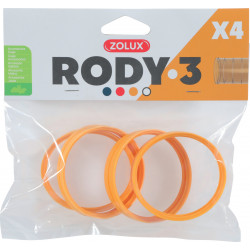 zolux ZO-206032 4 rings connector for Rody tube . banana color . size ø 6 cm . for rodent. Cage