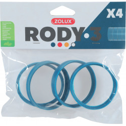 zolux ZO-206033 4 rings connector for Rody tube . color blue. size ø 6 cm . for rodent. Cage