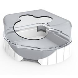 zolux 1 Toilettenhaus für kleine Nagetiere. Rody3 . weiße Farbe. Größe 14,3 cm x 10,5 cm x 7 cm . für Nagetiere. ZO-206038 Ab...