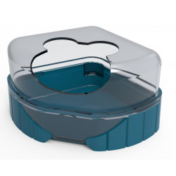 zolux 1 Toilettenhaus für kleine Nagetiere. Rody3 . Farbe blau. Größe 14,3 cm x 10,5 cm x 7 cm . für Nagetiere. ZO-206041 Abf...