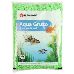 Flamingo FL-400432 Green Neon Gravel 1 kg. for aquarium. Decoration and other