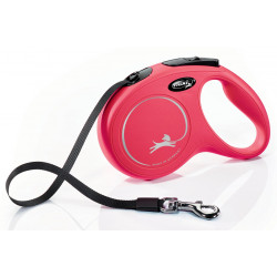 Flexi ZO-464413RGE Flexi New Classic strap 5 meters. size M. Max 25 KG. color red . dog leash. dog leash