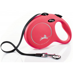 Flexi ZO-464414RGE Flexi New Classic 8 meters strap. size L. Max 50 KG. red color . dog leash. dog leash