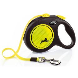 Flexi ZO-464436 Flexi neon strap 5 meters. size L. flexi leash for dogs max 50 kg. dog leash