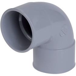 Nicoll CF88 Grey PVC elbowed FF 87°30 - Ø 32 mm - double socket -CF88 PVC drainage connection