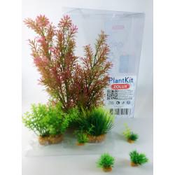 zolux Deko-Pflanzenset idro n°1. Künstliche Pflanzen. 7 Stück. H 36 cm. Aquariendekoration. ZO-352150 Dekoration und Sonstiges