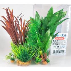 zolux Deko-Pflanzenset idro n°2. Künstliche Pflanzen. 6 Stück. H 27 cm. Aquariendekoration. ZO-352151 Dekoration und Sonstiges