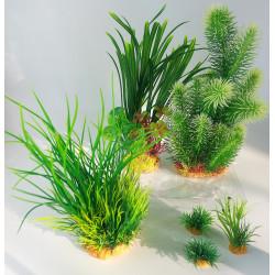 zolux Deko-Pflanzenset idro n°3. Künstliche Pflanzen. 6 Stück. H 28 cm. Aquariendekoration. ZO-352152 Dekoration und Sonstiges