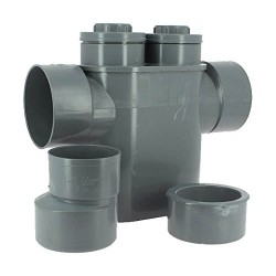 PVC drain trap backflow preventer PVC Evac Ø 125/100 PVC connection Generic drain SO-ENFSIPH125100