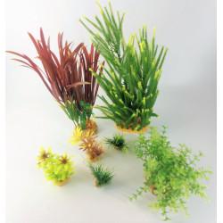 zolux Deko-Pflanzenset idro n°4. Künstliche Pflanzen. 7 Stück. H 33 cm. Aquariendekoration. ZO-352153 Dekoration und Sonstiges