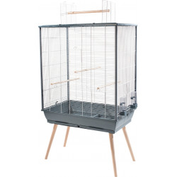 zolux ZO-104135GRI Birdcage NEO JILI. gray color. size XL. 81x 48 x height 132 cm . Cages, aviaries, nest boxes