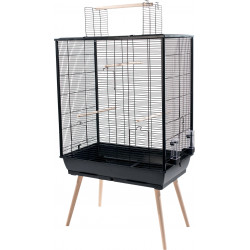 zolux Birdcage NEO JILI XL. black color. size XL. 81x 48 x height 132 cm . Cages, aviaries, nest boxes