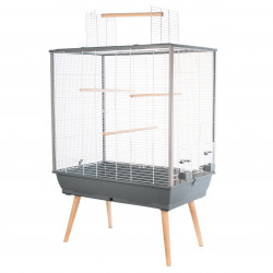 zolux Birdcage NEO JILI. Grey color. 78 x 48 x height 80 cm. Cages, aviaries, nest boxes