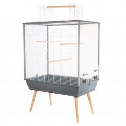 ZO-104137GRI zolux Cage à oiseaux NEO JILI. couleur grise. 78 x 48 x hauteur 80 cm. Jaulas, pajareras, nidos