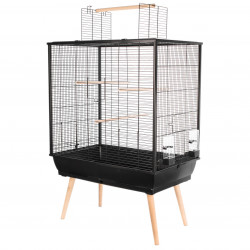 zolux Birdcage NEO JILI. Black color. 78 x 48 x height 80 cm. Cages, aviaries, nest boxes