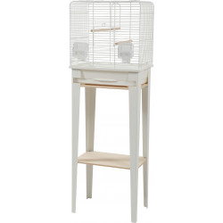 zolux ZO-104180BLC Cage and furniture CHIC LOFT. size S. 38 x 24,5 x height 113cm. color white. Cages, aviaries, nest boxes
