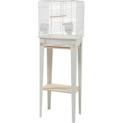 Gaiola e mobiliário CHIC LOFT. tamanho S. 38 x 24,5 x altura 113cm. cor branca. ZO-104180BLC Gaiolas, aviários, caixas de nid...