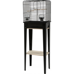 zolux ZO-104180NOI Cage and furniture CHIC LOFT. size S. 38 x 24,5 x height 113cm. color black. Cages, aviaries, nest boxes