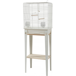 zolux ZO-104181BLC Cage and furniture CHIC LOFT. size M. 44 x 28 x height 124 cm. color white. Cages, aviaries, nest boxes