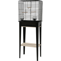 zolux ZO-104181NOI Cage and furniture CHIC LOFT. size M. 44 x 28 x height 124 cm. color black. Cages, aviaries, nest boxes