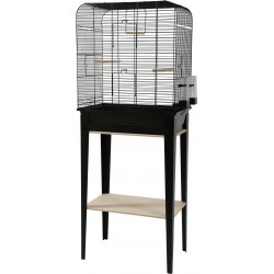 zolux Cage and furniture CHIC LOFT. size L. 53.5 x 33 x height 134 cm. black color. Cages, aviaries, nest boxes