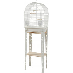 zolux ZO-104183BLC Cage and furniture CHIC PATIO. size S. 38 x 24.5 x height 123 cm. color white. Cages, aviaries, nest boxes