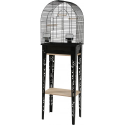 zolux ZO-104183NOI Cage and furniture CHIC PATIO. size S. 38 x 24.5 x height 123 cm. color Black. Cages, aviaries, nest boxes