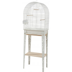 zolux Cage and furniture CHIC PATIO. size M. 44.5 x 28 x height 133 cm. color white. Cages, aviaries, nest boxes