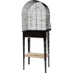 zolux Cage et meuble CHIC PATIO. taille L. 53 x 33 x hauteur 144 cm. couleur noir. Cages oiseaux