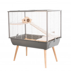 zolux ZO-205622GRI Cage NEO SILTA. size 77.5 x 47 x height 87.5 cm with feet. color grey. for small rodents. Cage